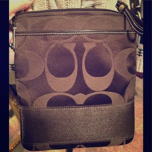 Coach crossbody purse brown